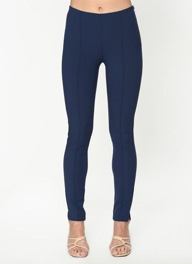 Twist Dikiş Geçişli Yüksek Bel Pantolon Lacivert